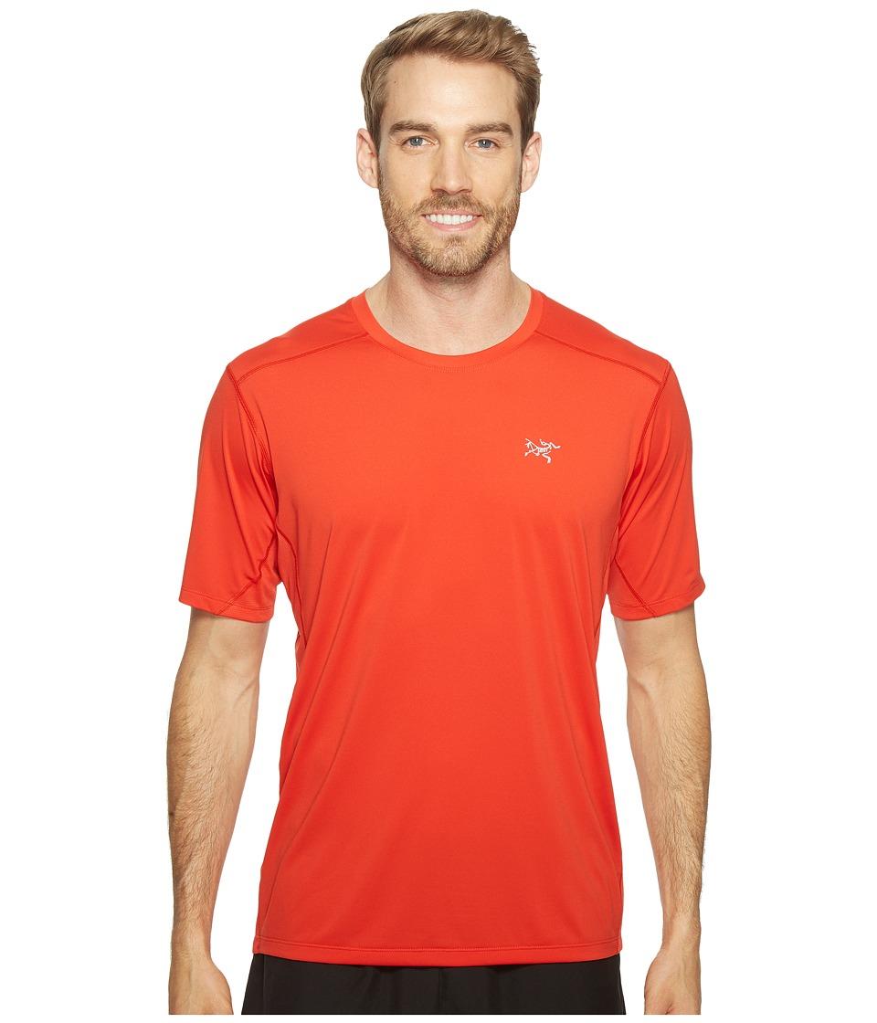 Arc'teryx - Accelero Comp S/S (Cardinal) Men's Short Sleeve Pullover