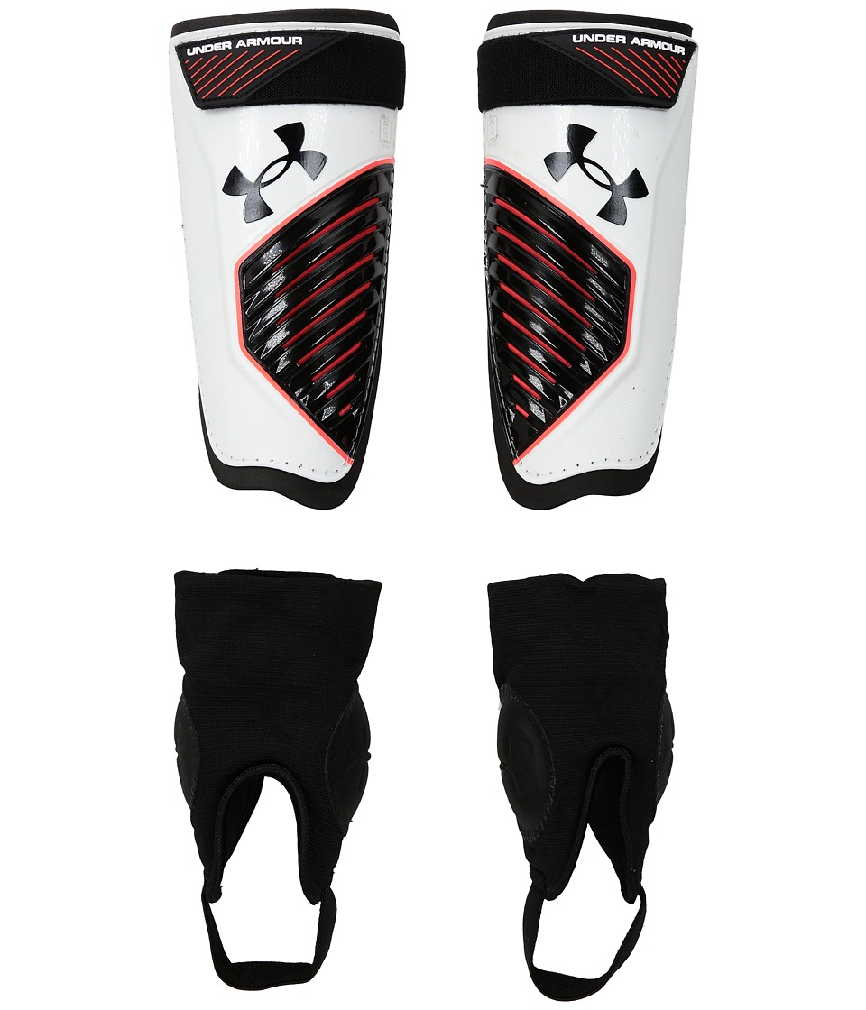 Under Armour - UA Contest Shinguard (White/Black/Red) Athletic Sports Equipment