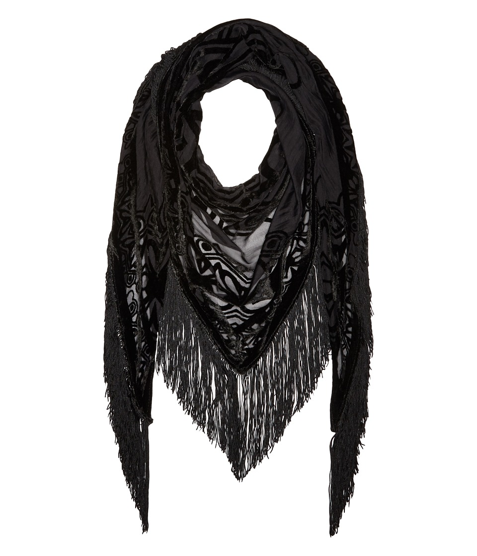 BCBGeneration - Medallion Magic Triangle (Black) Scarves