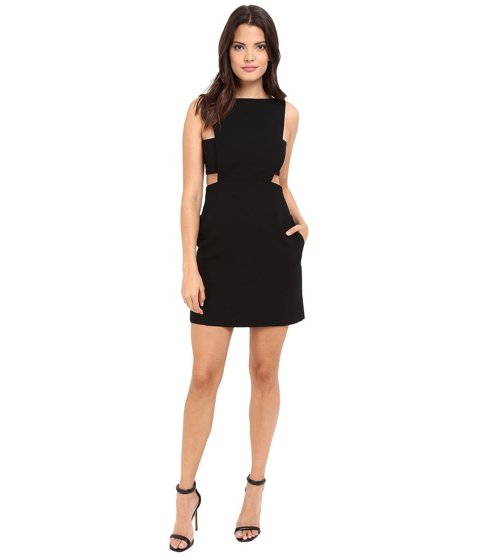 JILL JILL STUART - Short Crepe Dress with Cut Out Details (Black) Women's Dress