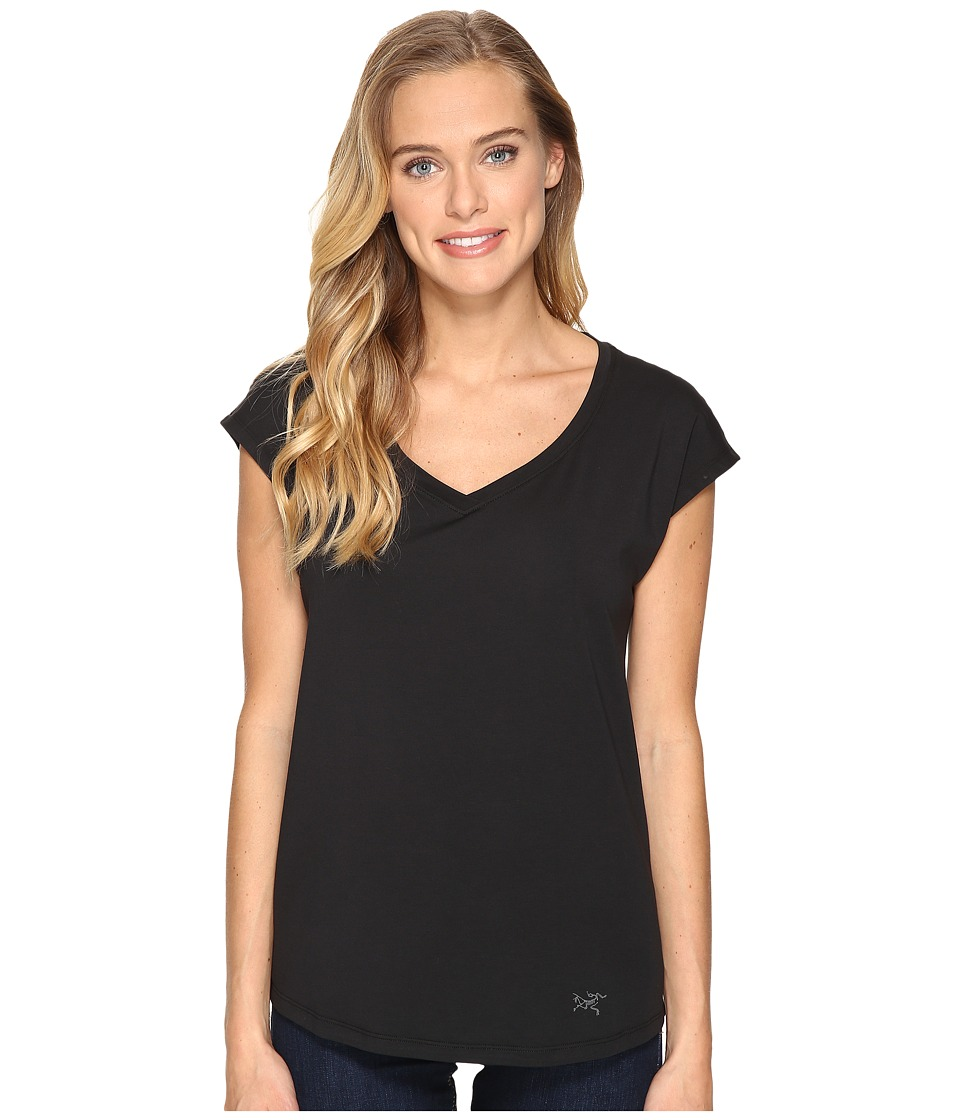 Arc'teryx - Emory Short Sleeve Top (Black) Women's Clothing