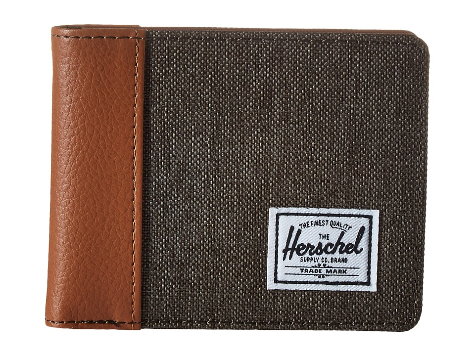 Herschel Supply Co. - Edward (Canteen Crosshatch/Tan Synthetic Leather) Bi-fold Wallet