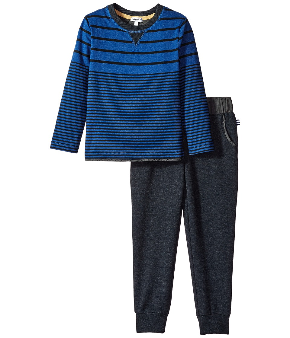 Splendid Littles - Long Sleeve Mix Top with Pants Set (Little Kids) (Royal Blue) Boy's Active Sets