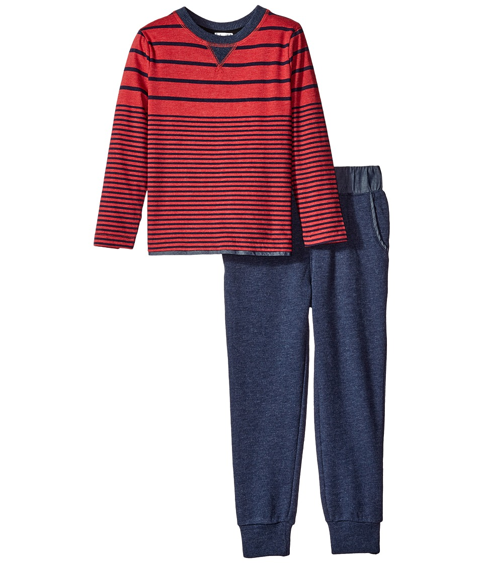 Splendid Littles - Long Sleeve Mix Top with Pants Set (Little Kids) (Red) Boy's Active Sets