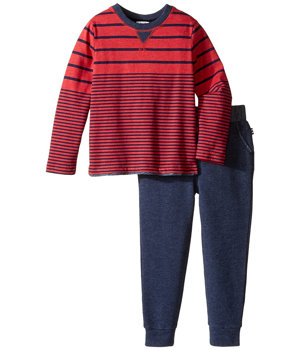 Splendid Littles - Long Sleeve Mix Top with Pants Set (Toddler) (Red) Boy's Active Sets