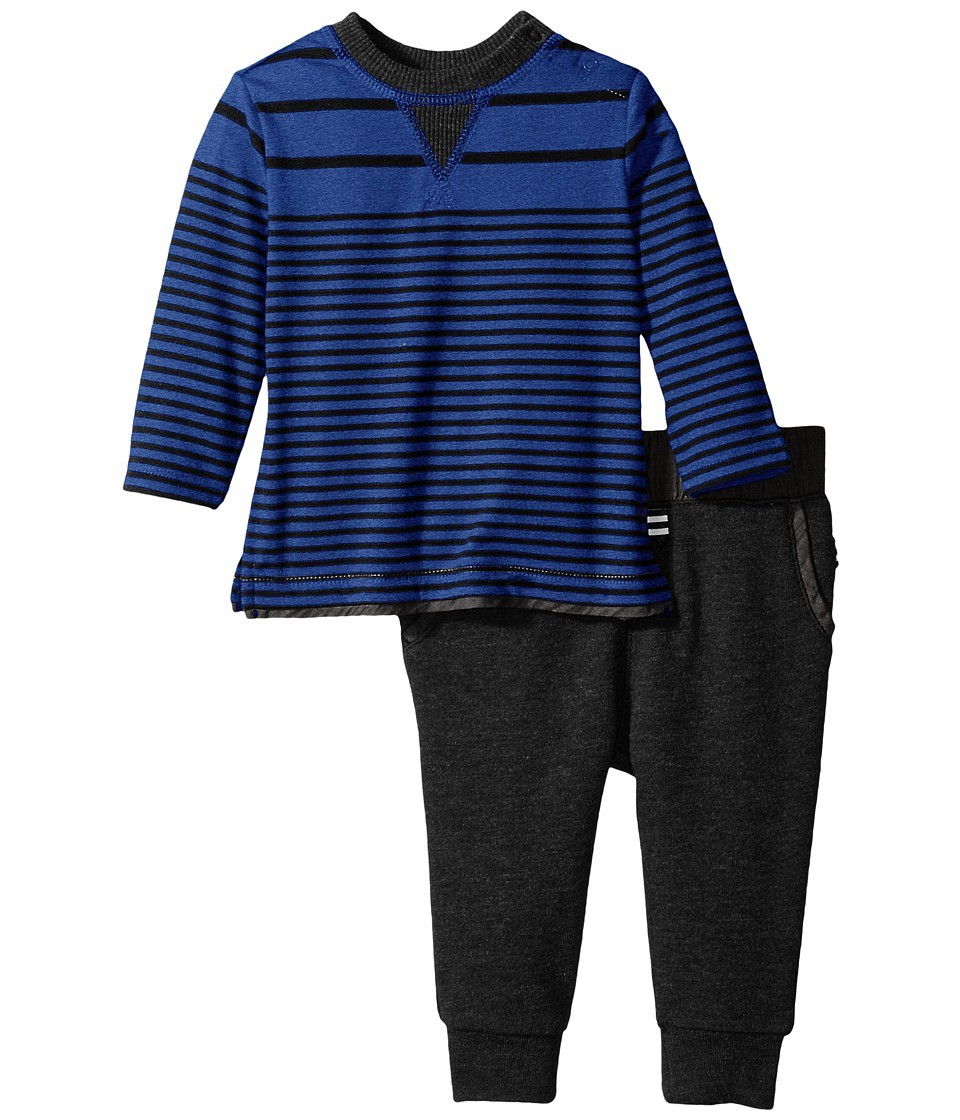 Splendid Littles - Long Sleeve Mix Top with Pants Set (Infant) (Royal Blue) Boy's Active Sets