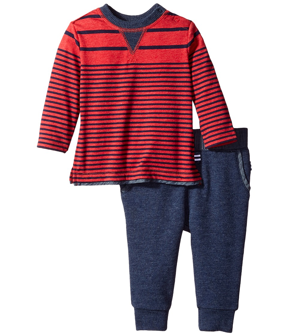 Splendid Littles - Long Sleeve Mix Top with Pants Set (Infant) (Red) Boy's Active Sets