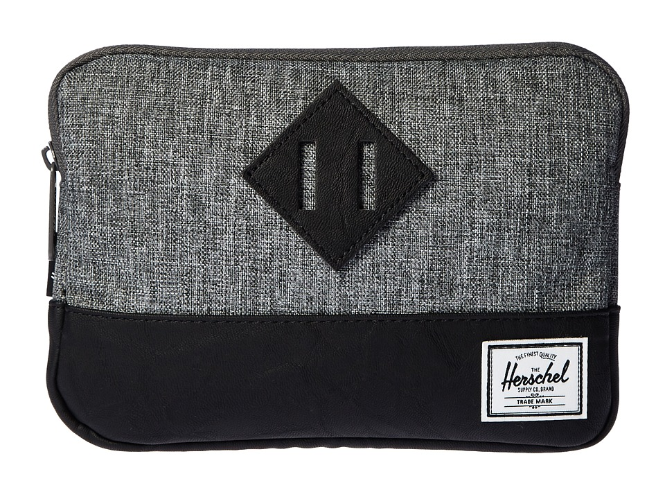 Herschel Supply Co. - Heritage Sleeve For iPad Mini (Raven Crosshatch/Black Synthetic Leather) Computer Bags