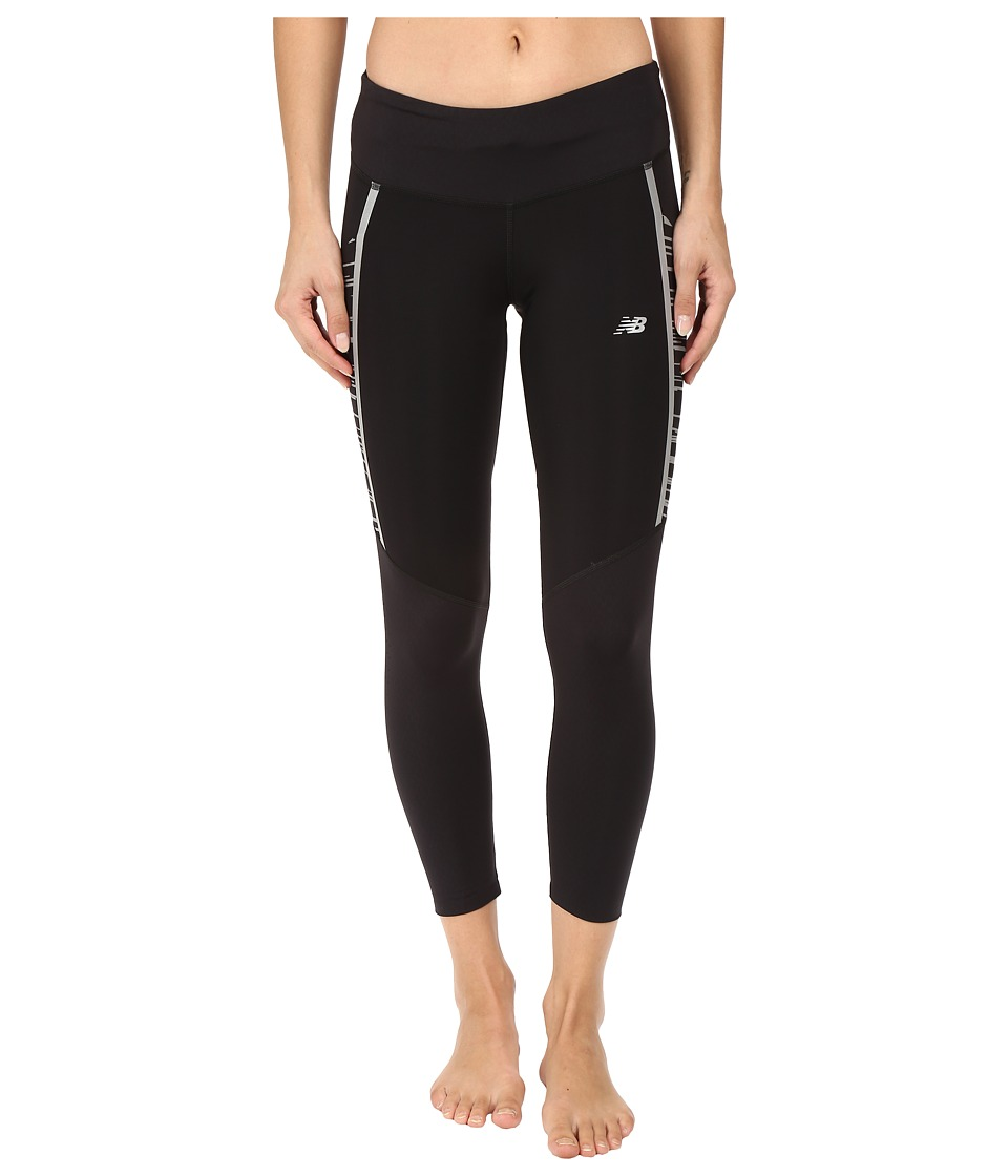 New Balance - Precision Run Capris (Black) Women's Capri