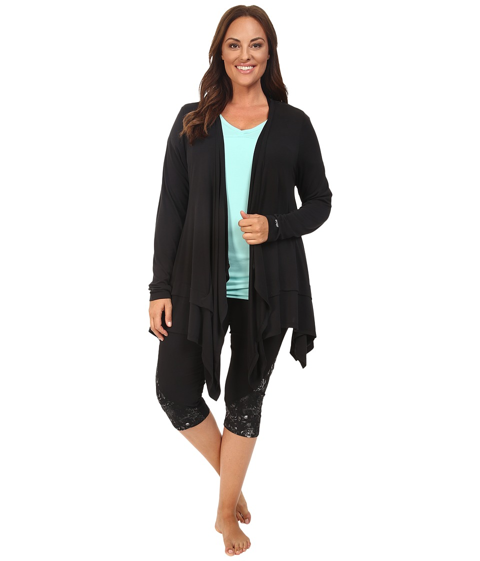 Marika Curves - Plus Size Abbey Cardigan (Black) Women's Sweater