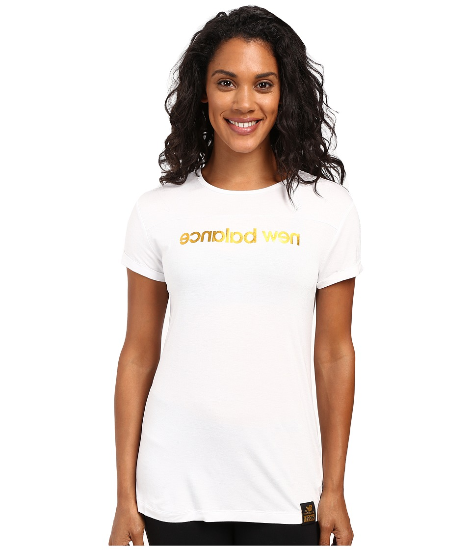 New Balance - Push The Future Tee (White) Women's T Shirt