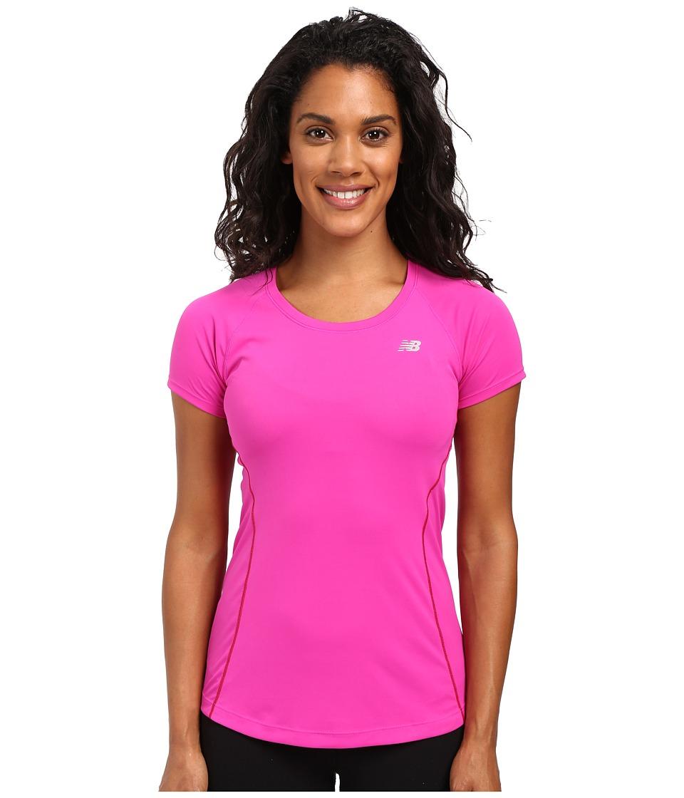 New Balance - NB Ice Short Sleeve (Azalea) Women's Clothing