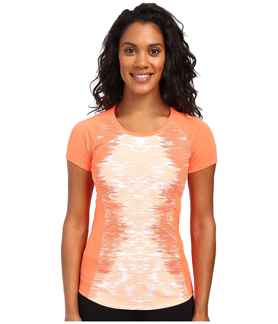 New Balance - NB Ice Short Sleeve (Dragon Fly/Multi) Women's Clothing