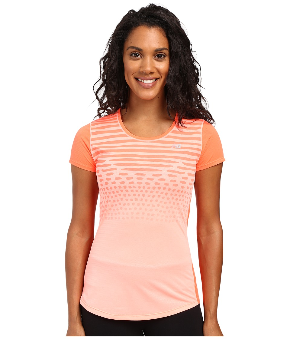 New Balance - Accelerate Short Sleeve Graphic Top (Dragon Fly/Multi) Women's Short Sleeve Pullover