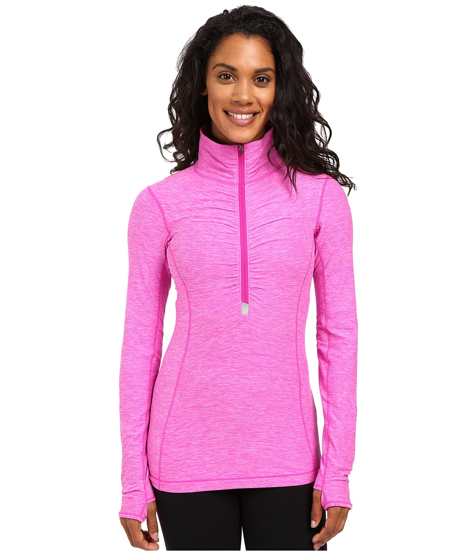 New Balance - In Transit Half Zip Jacket (Azalea Heather) Women's Long Sleeve Pullover