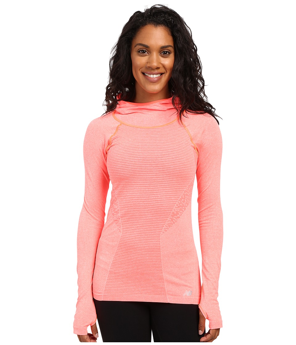 New Balance - M4M Seamless Hoodie (Dragon Fly Heather) Women's Sweatshirt