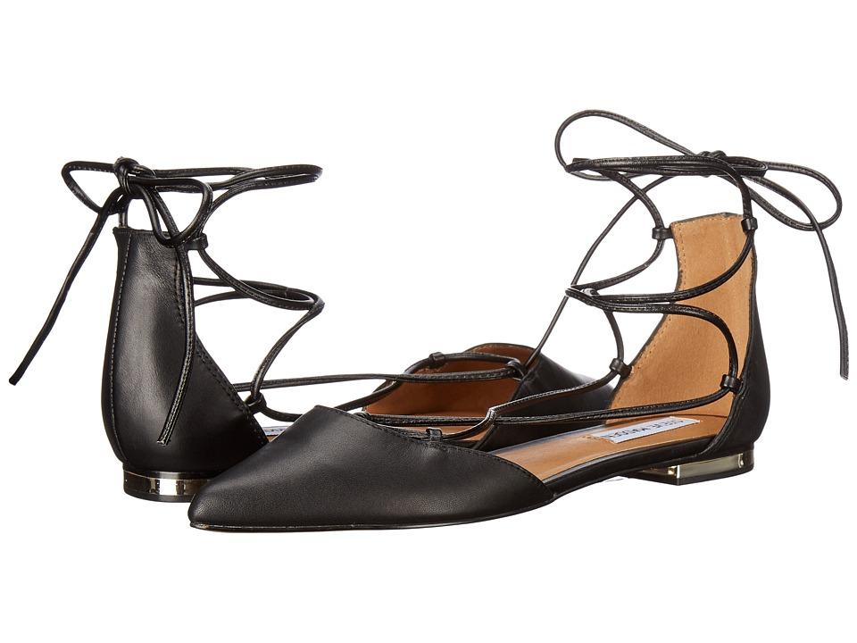 Steve Madden - Sunshine (Black Leather) Women's Flat Shoes