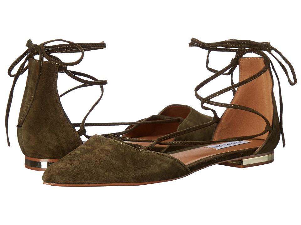 Steve Madden - Sunshine (Olive Suede) Women's Flat Shoes