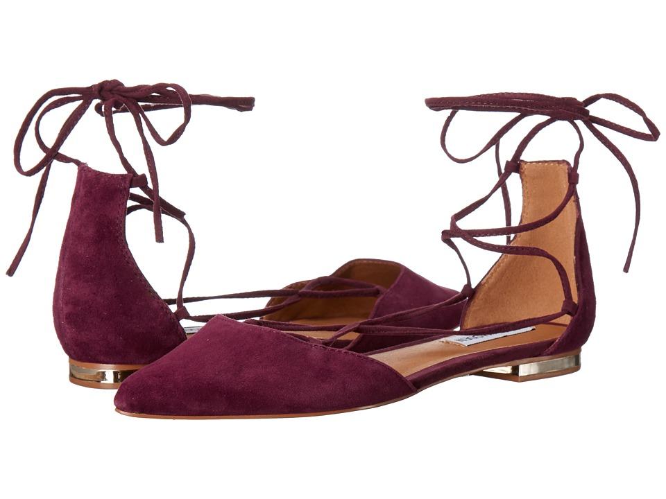 Steve Madden - Sunshine (Burgundy Suede) Women's Flat Shoes