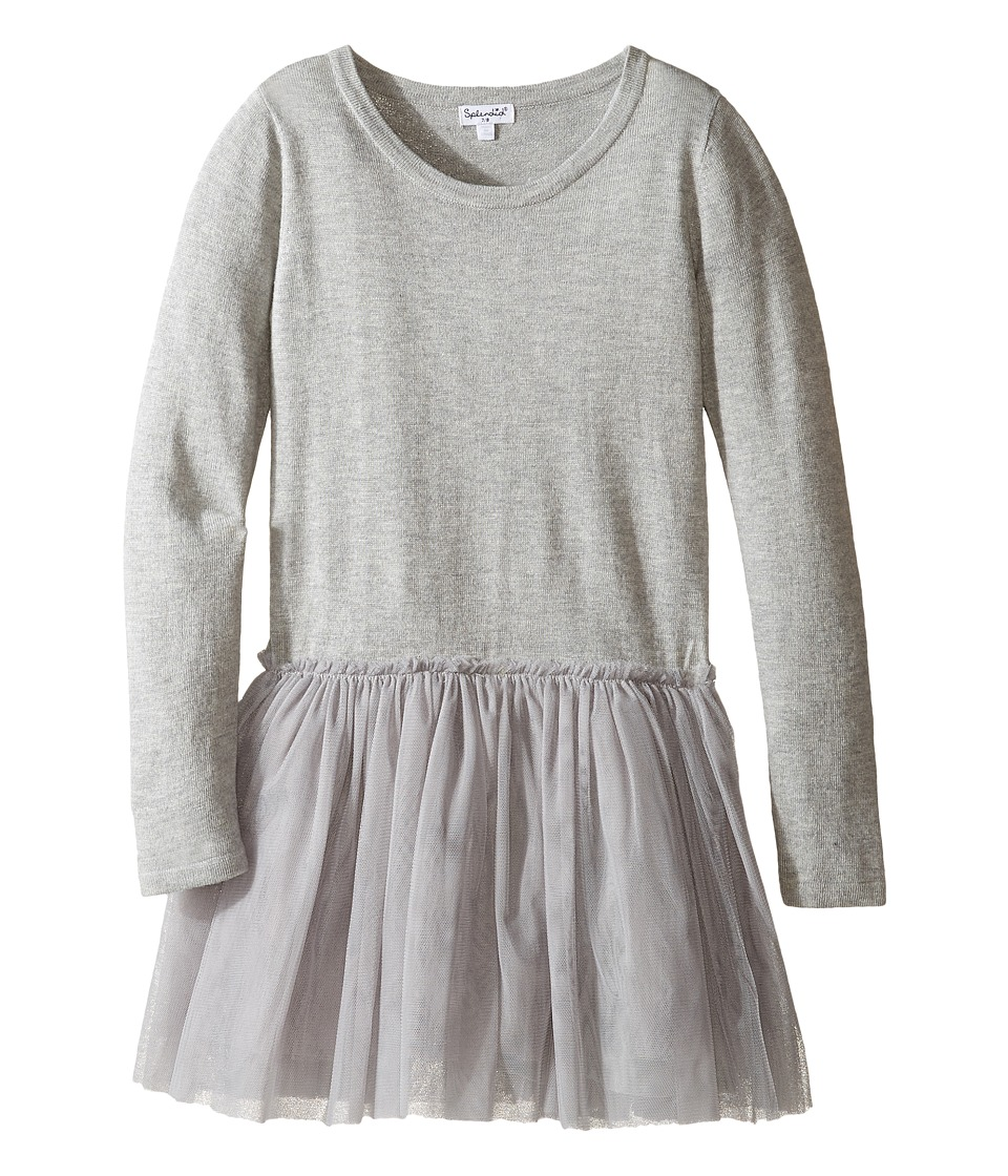 Splendid Littles - Tutu Sweater Dress (Big Kids) (Grey Heather) Girl's Dress