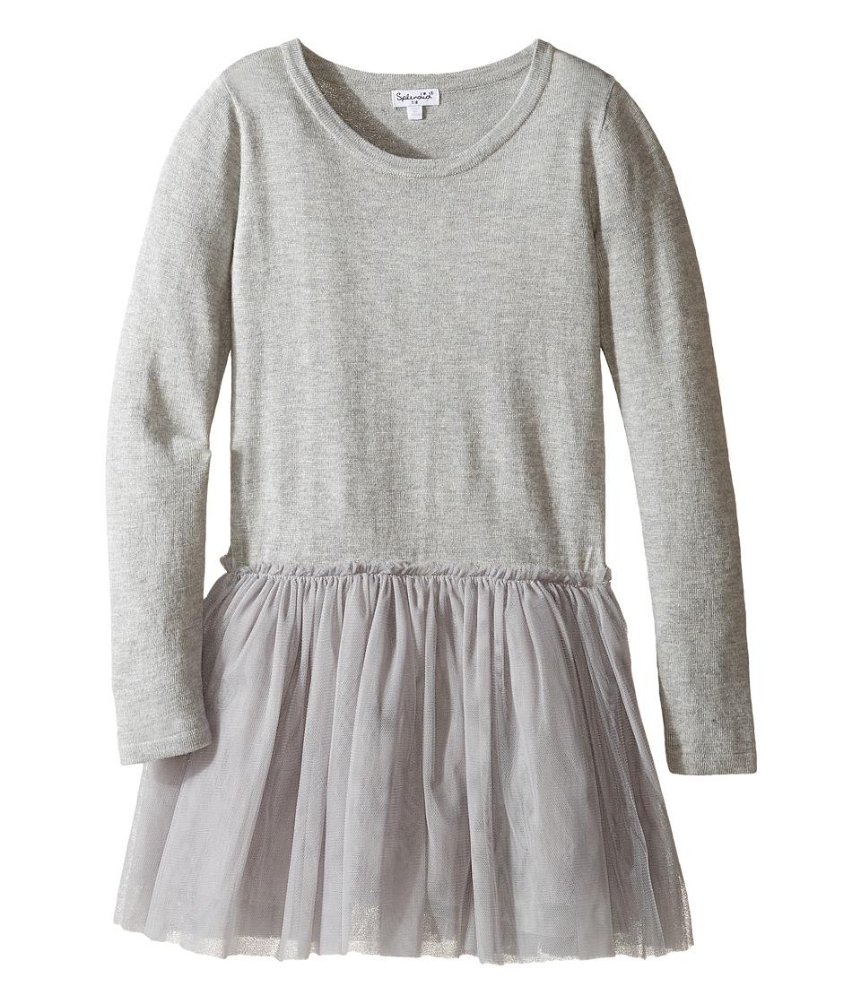 Splendid Littles - Tutu Sweater Dress (Big Kids) (Grey Heather) Girl's Dress