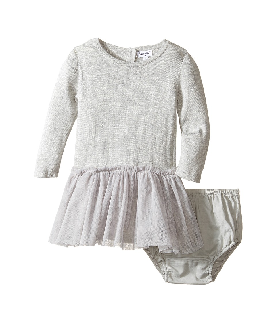 Splendid Littles - Tutu Sweater Dress (Infant) (Grey Heather) Girl's Dress