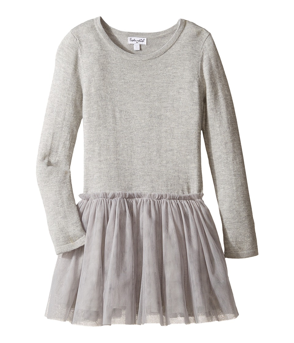 Splendid Littles - Tutu Sweater Dress (Toddler) (Grey Heather) Girl's Dress