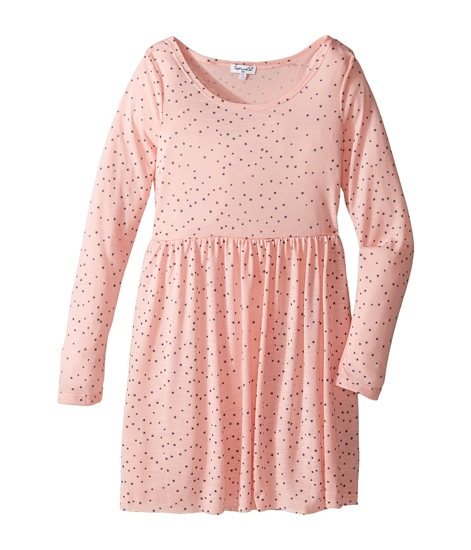 Splendid Littles - Star Print Dress (Big Kids) (Peach) Girl's Dress