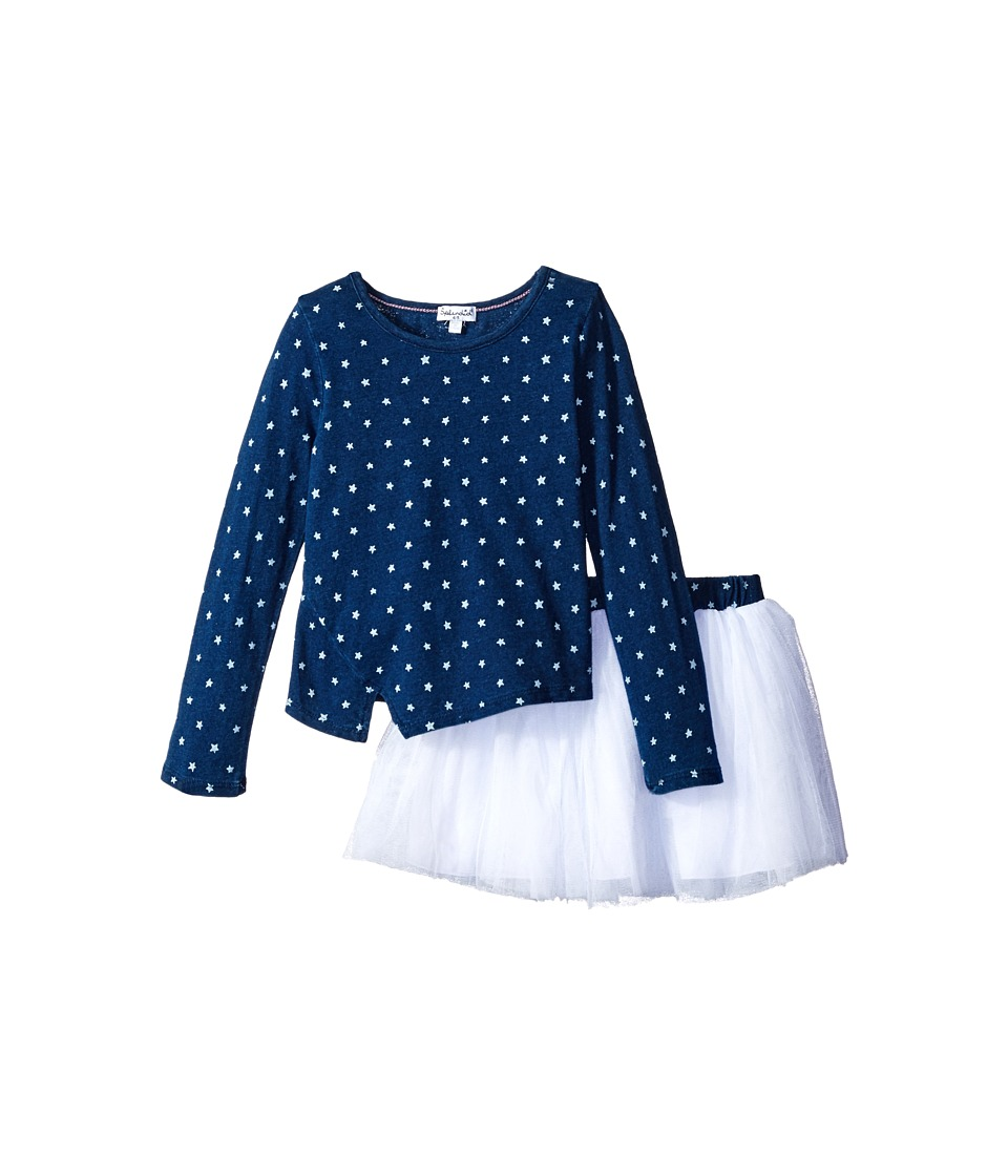 Splendid Littles - Indigo Tutu Dress Star Print (Little Kids) (Dark Stone Star) Girl's Pajama Sets