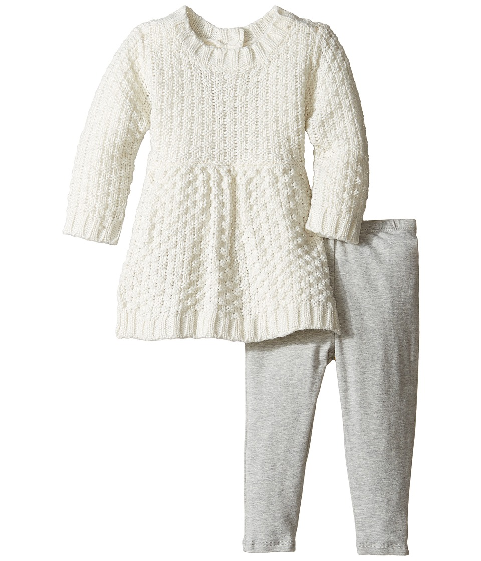 Splendid Littles - Lurex Sweater Set (Infant) (Off-White) Girl's Active Sets