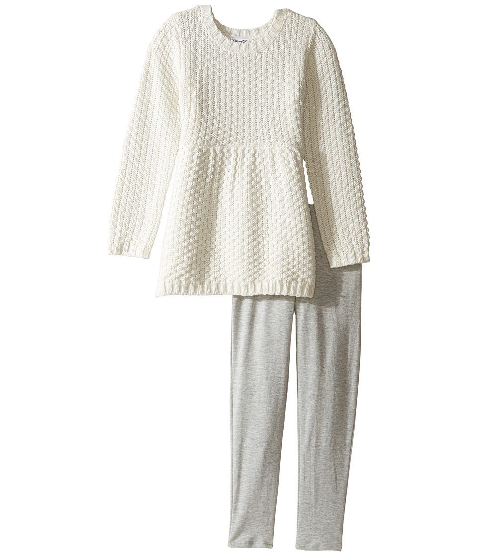 Splendid Littles - Lurex Sweater Set (Little Kids) (Off-White) Girl's Active Sets