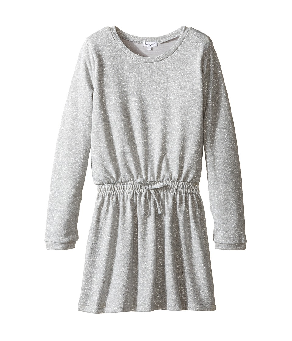 Splendid Littles - Lurex Sweater Knit Dress (Big Kids) (Grey Heather) Girl's Dress