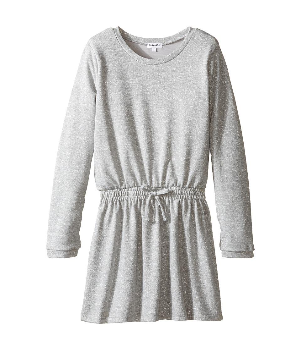 Splendid Littles - Lurex Sweater Knit Dress (Big Kids) (Grey Heather) Girl's Dress