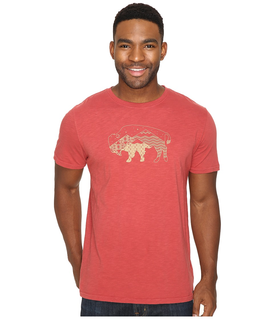 United By Blue - Starry Bison (Red) Men's Clothing