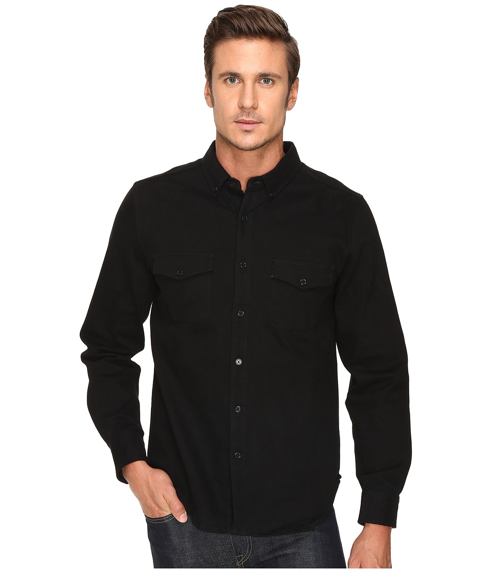 United By Blue - Kennett Work Shirt (Black) Men's Clothing