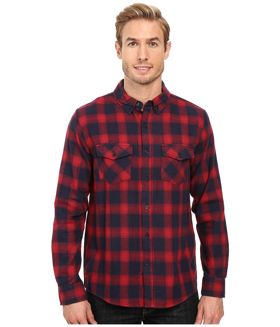 United By Blue - Pinnacle Plaid (Red/Navy) Men's Clothing