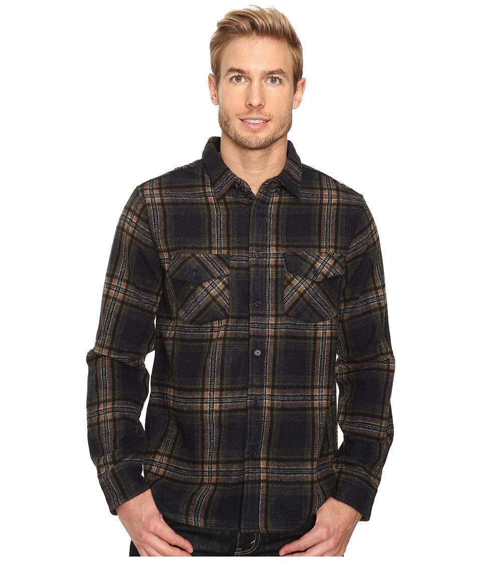 United By Blue - Lhotse Wool Plaid (Navy/Tan) Men's Clothing
