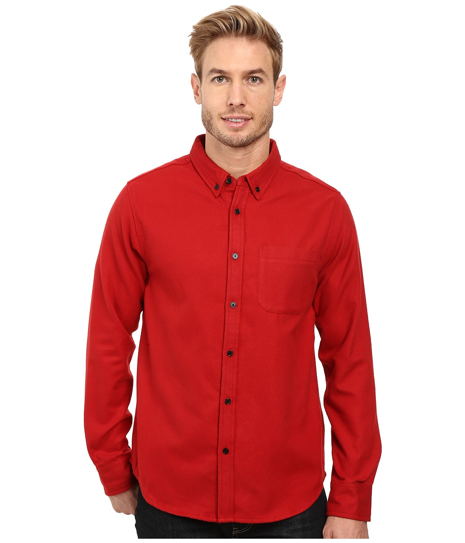 United By Blue - Banff Wool Shirt (Red) Men's Clothing