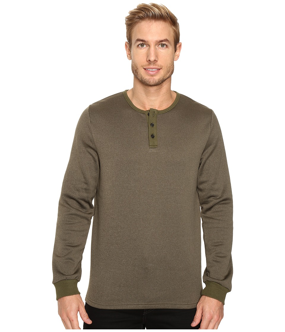 United By Blue - Standard Long Sleeve Henley (Olive) Men's Clothing