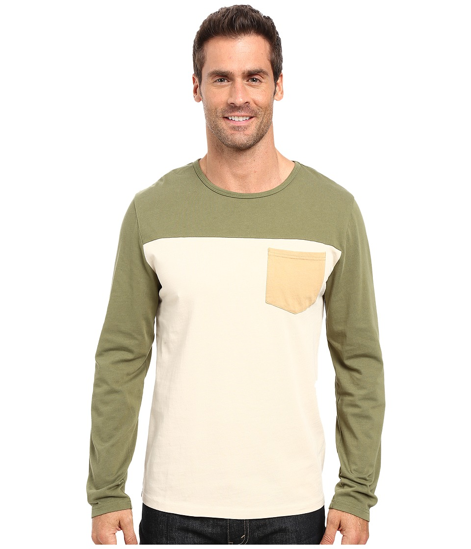 United By Blue - Standard Long Sleeve Color Block Pocket Shirt (Olive) Men's Clothing