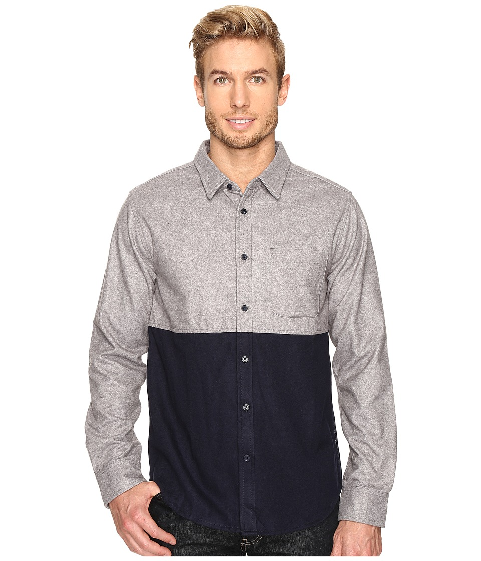 United By Blue - Banff Color Block Wool Shirt (Grey/Navy) Men's Clothing