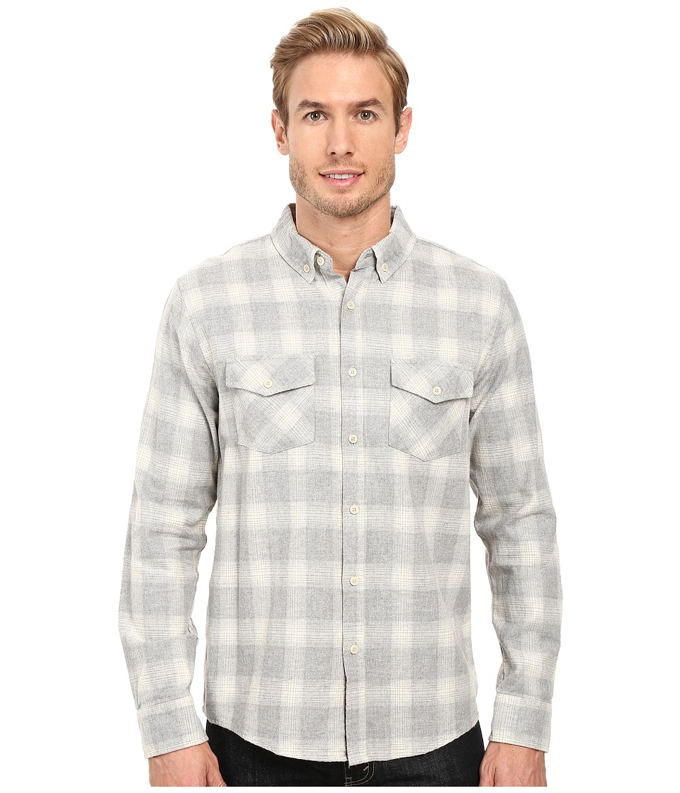 United By Blue - Pinnacle Plaid (White/Grey) Men's Clothing