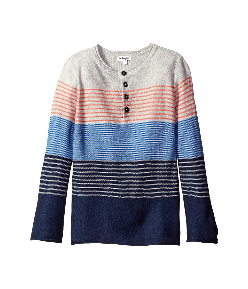 Splendid Littles - Yarn-Dye Stripe Sweater Knit Top (Little Kids/Big Kids) (Stripe) Boy's Sweater