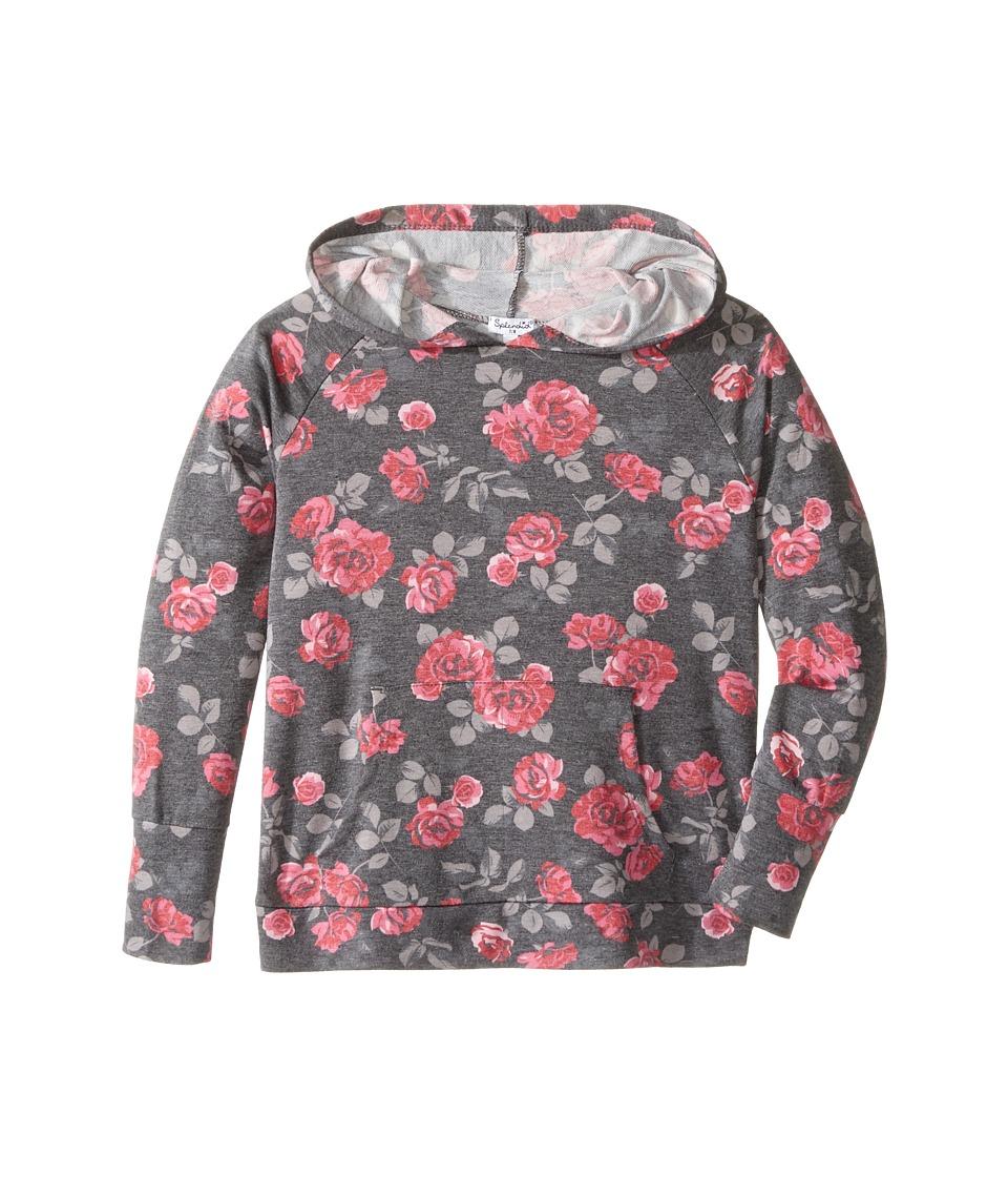 Splendid Littles - Printed Hoodie with Tulip Back (Big Kids) (Print) Girl's Sweatshirt