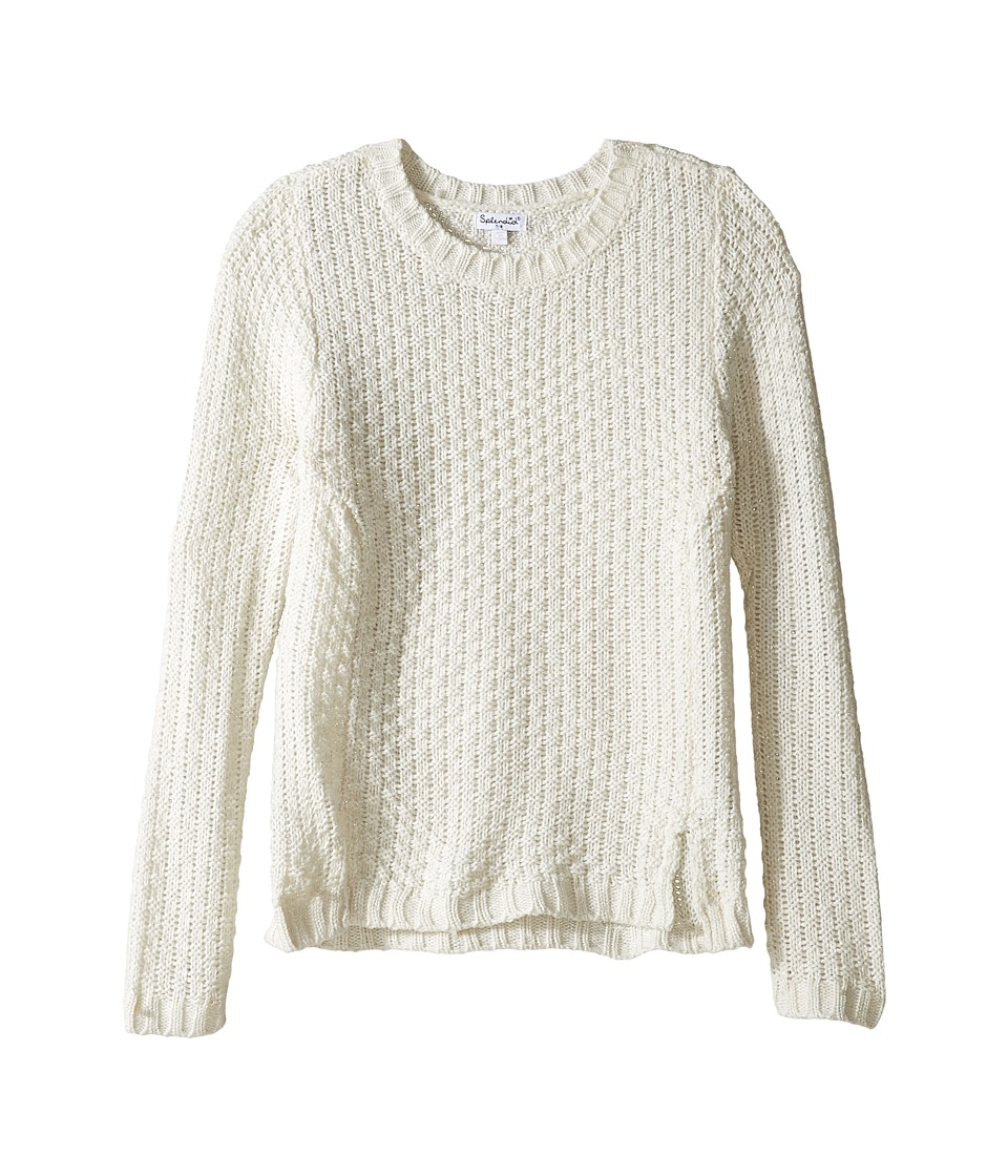 Splendid Littles - Lurex Sweater (Big Kids) (Off-White) Girl's Sweater