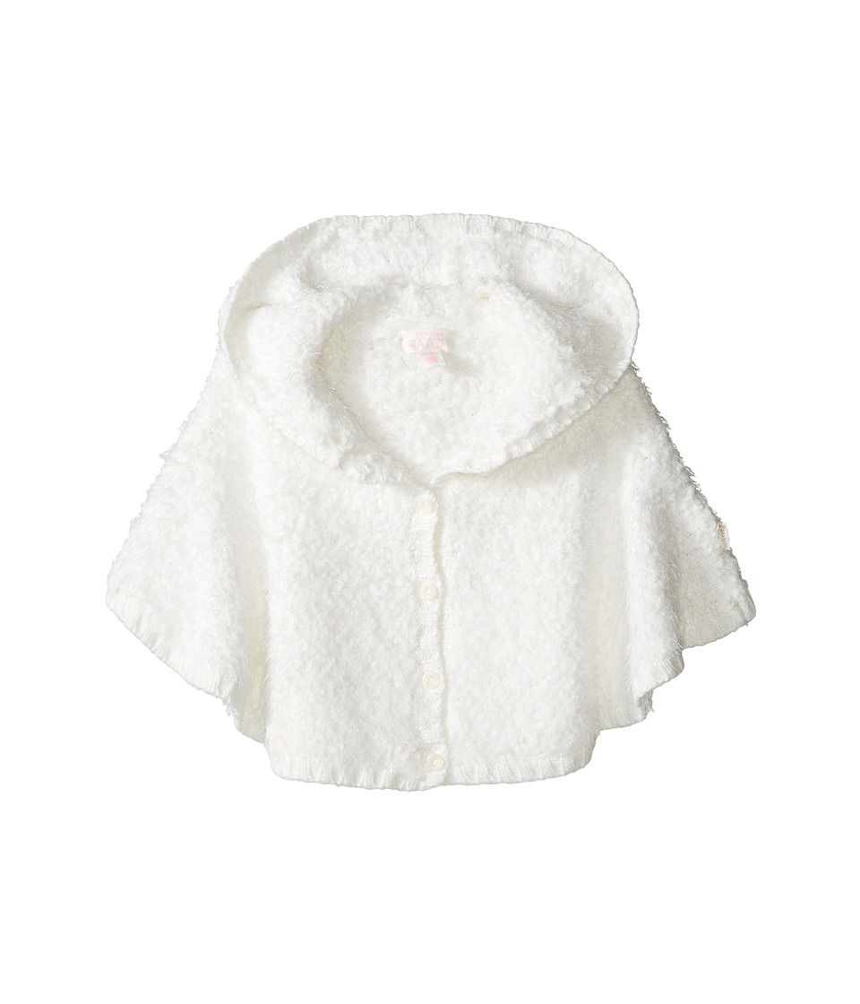 Pumpkin Patch Kids - Fluffy Knit Poncho (Infant) (French Vanilla) Girl's Sweater