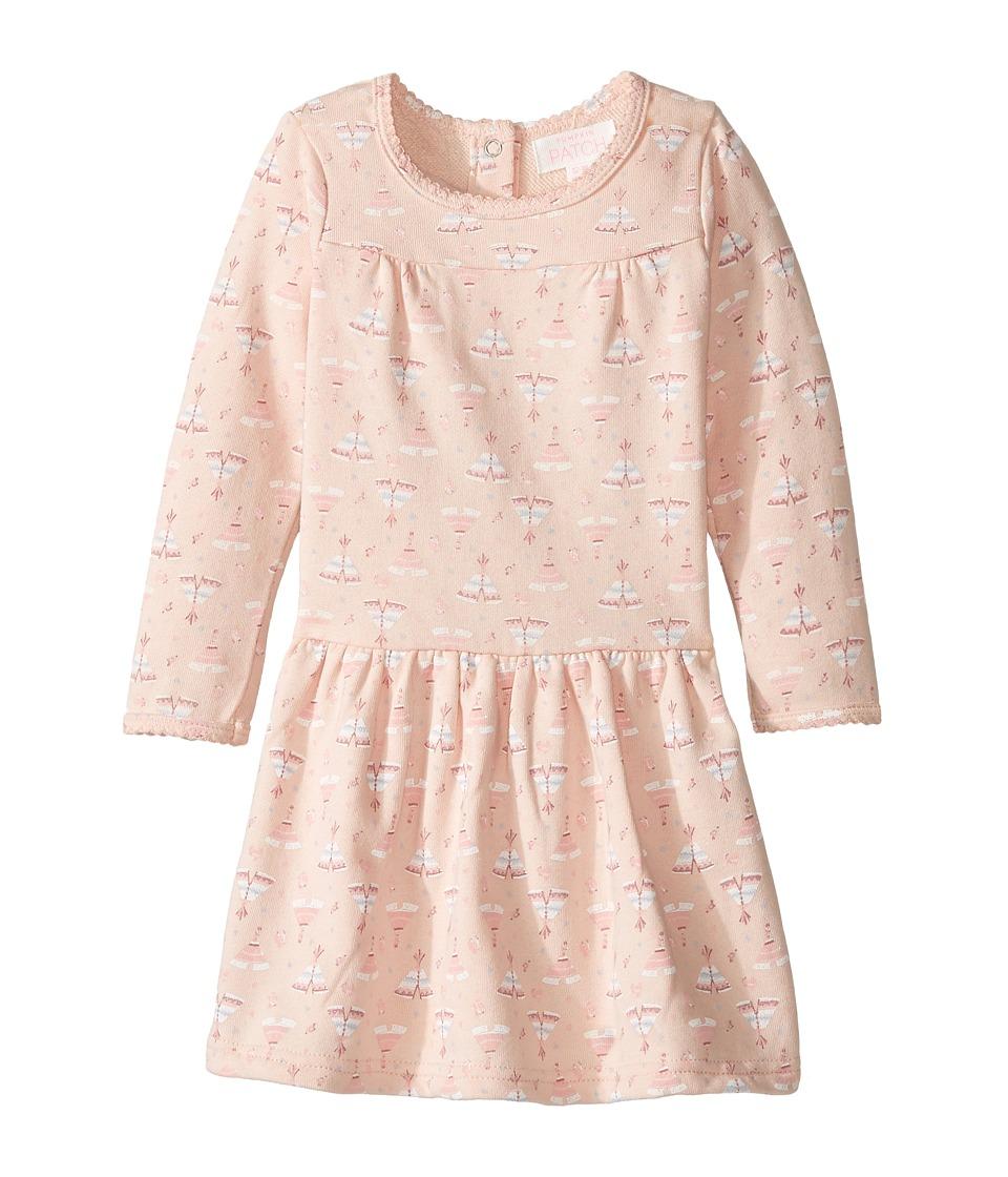 Pumpkin Patch Kids - Teepee Print Knit Dress (Infant) (Powder Pink) Girl's Dress