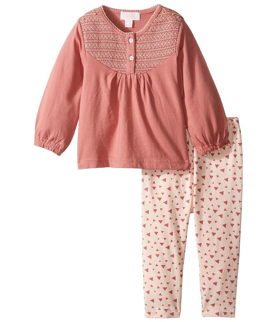 Pumpkin Patch Kids - Sparkle Print Set (Infant) (Dusty Rose) Girl's Active Sets