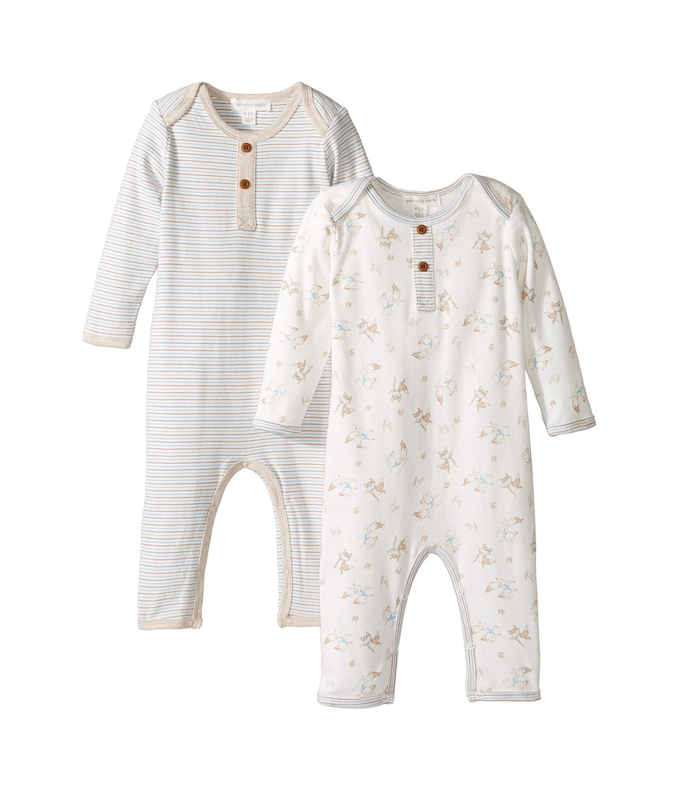 Pumpkin Patch Kids - 2-Pack All-In-One (French Vanilla) Kid's Jumpsuit & Rompers One Piece