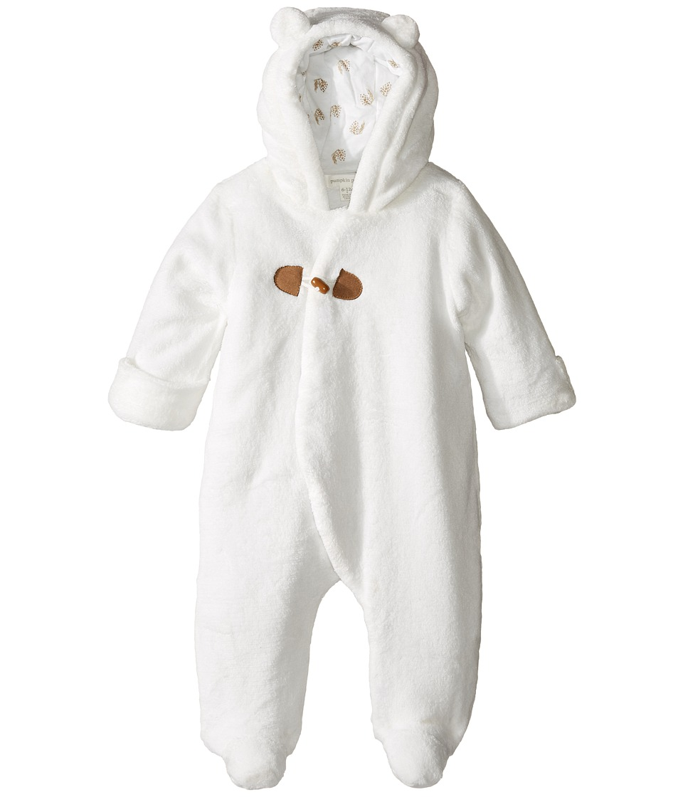Pumpkin Patch Kids - Furry Hooded All-In-One (Infant) (French Vanilla) Kid's Jumpsuit & Rompers One Piece